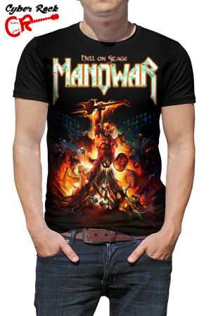 Camiseta Manowar Hell on Stage