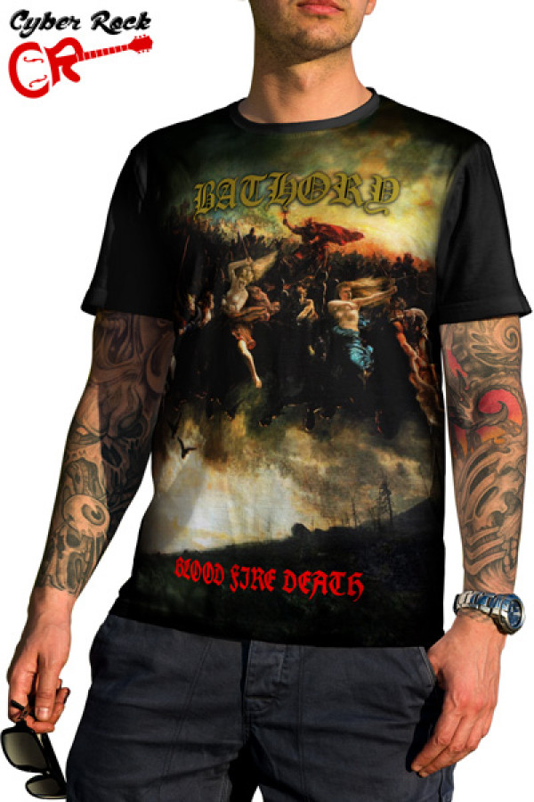 Camiseta Bathory Blood Fire Death