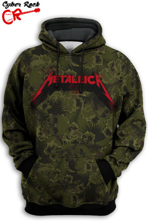 Blusa Metallica camo
