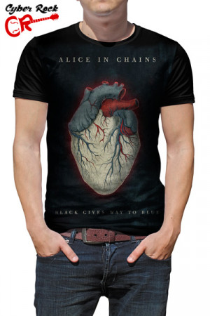 Camiseta Alice In Chains-Black Gives Way To Blue