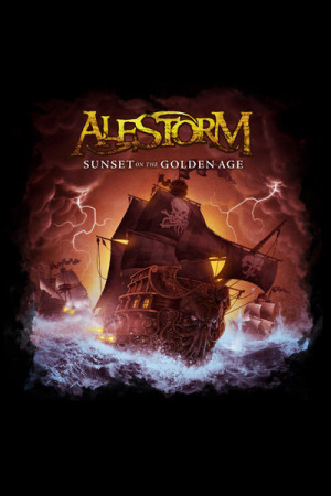 Camiseta Alestorm Sunset On The Golden Age