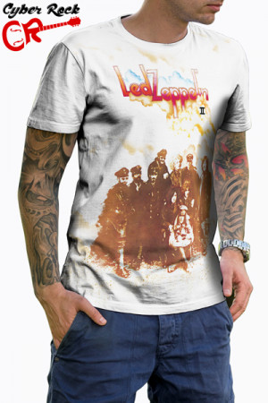 Camiseta Led Zeppelin II branca