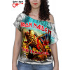 Blusinha Iron Maiden The Trooper branca