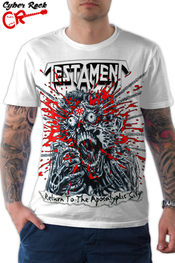 Camiseta Testament Return To The Apocalyptic City Branco