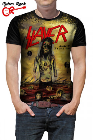 Camiseta Slayer Chist Illusion