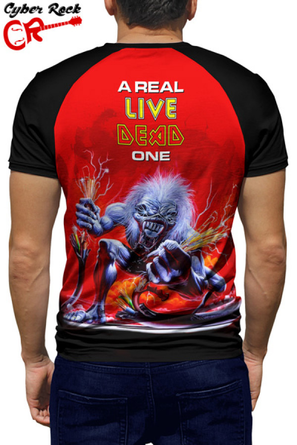 Raglan manga curta Iron Maiden a Real Dead One
