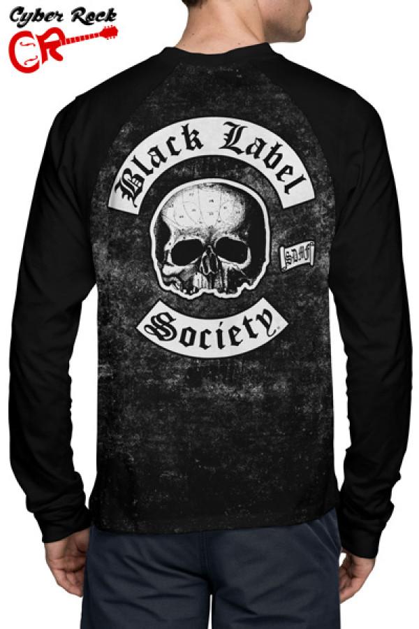 Camiseta Raglan Black Label Society Manga Longa