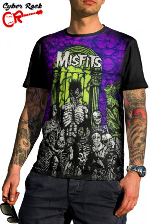 Camiseta Misfits Earth A D Wolfs Blood