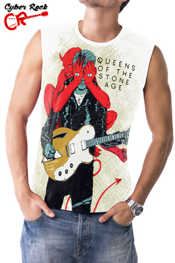Regata Queens of the Stone Age Villains Branca