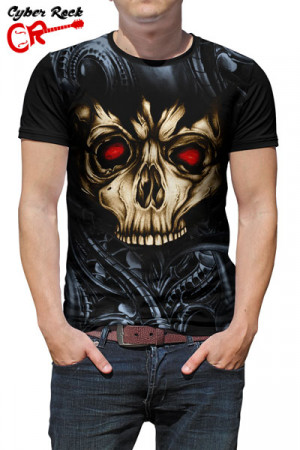 Camiseta Tatoo Wired Skull