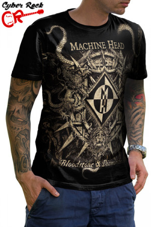 Camiseta  Machine Head - Bloodstone & Diamonds