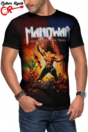 Camiseta Manowar Warriors of the World