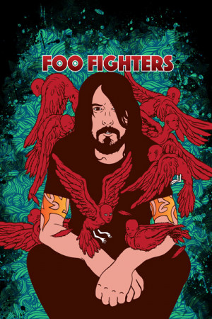Camiseta Foo Fighters-Dave Grohl