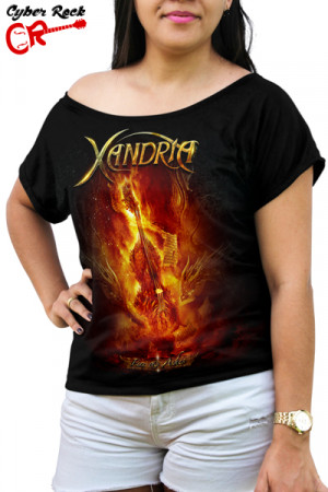 Blusinha Xandria Fire And Ashes