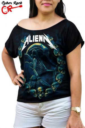 Blusinha Metallica Alien