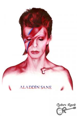 Almofada David Bowie Aladdin Sane