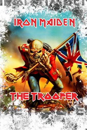 Camiseta Iron Maiden the trooper Branca