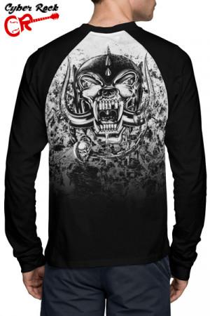Camiseta Raglan Motorhead Manga Longa
