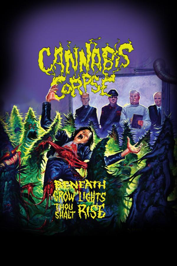 Camiseta Cannabis Corpse Beneath Grow Lights Thou Shall Rise