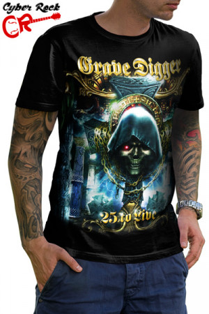 Camiseta Grave Digger 25 to live