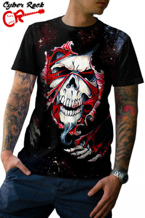 Camiseta Tatoo Skull and Flesh