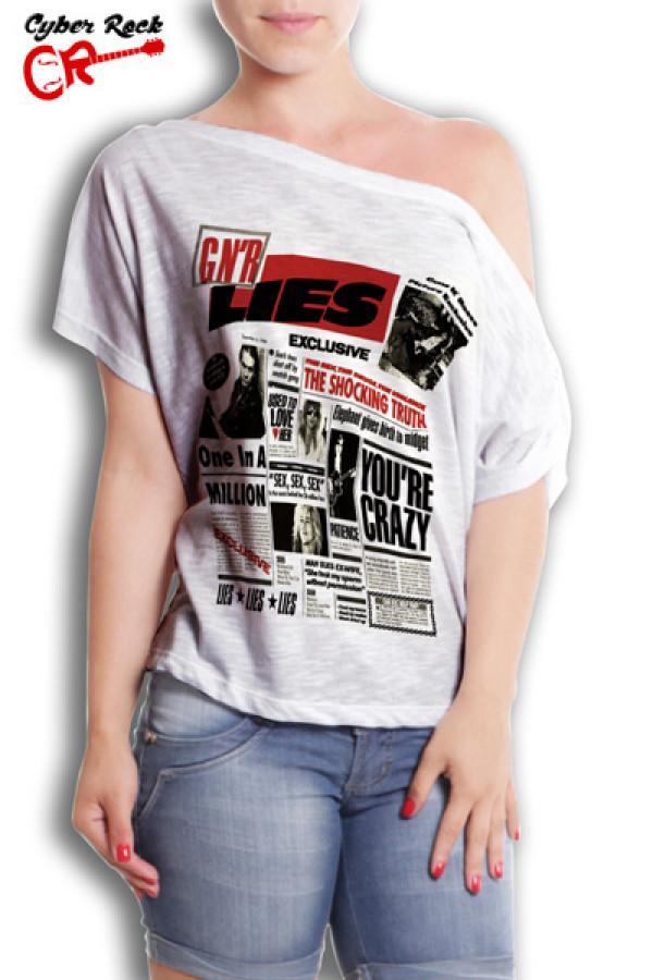 Blusinha Guns N Roses Lies