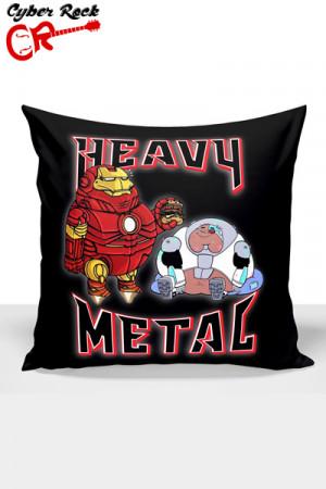 Capa Almofada Heavy Metal