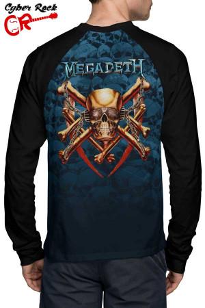 Raglan Manga Longa Megadeth tz