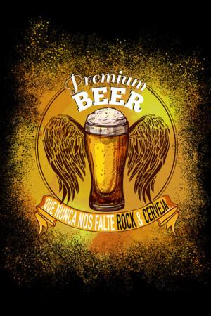 Blusinha Rock Beer Que Nunca Nos Falte Rock e Cerveja