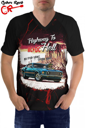 Raglan manga curta AC-DC Highway to Hell