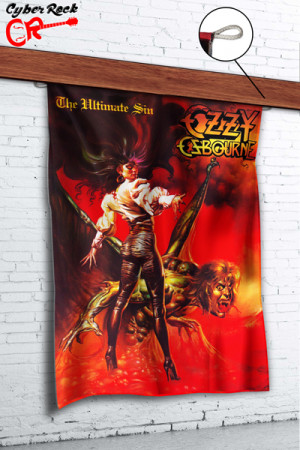 Bandeira Ozzy Osbourne - The Ultimate Sin Rar