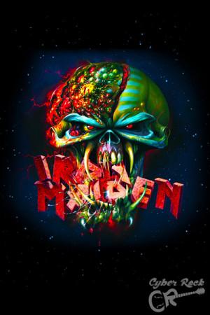 Almofada Banda Iron Maiden
