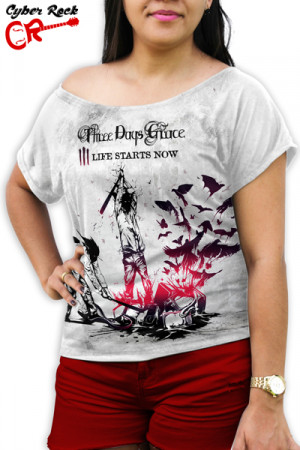 Blusinha Three Days Grace Life Starts Now