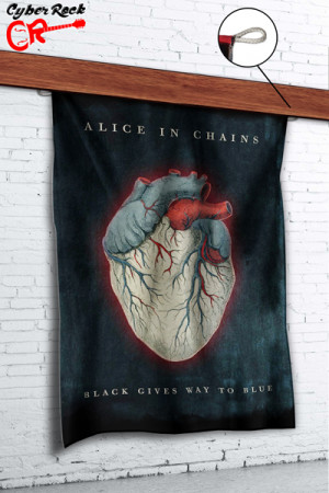 Bandeira Alice In Chains-Black Gives Way To Blue