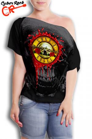 Blusinha Guns n Roses Logo Skull