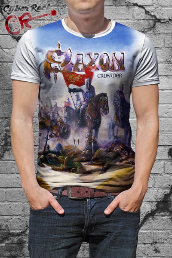 Camiseta Saxon Crusader Branca