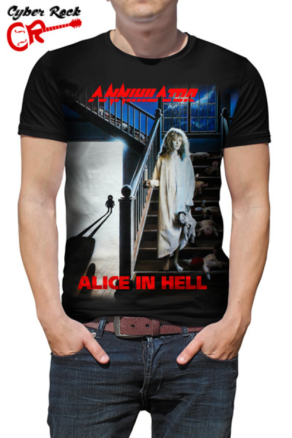 Camiseta Annihilator Alice in Hell