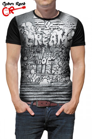 Camiseta Cream Wheels of Fire