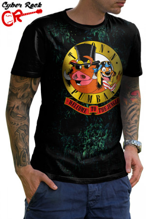 Camiseta Timao e Pumba Welcome to the Jungle