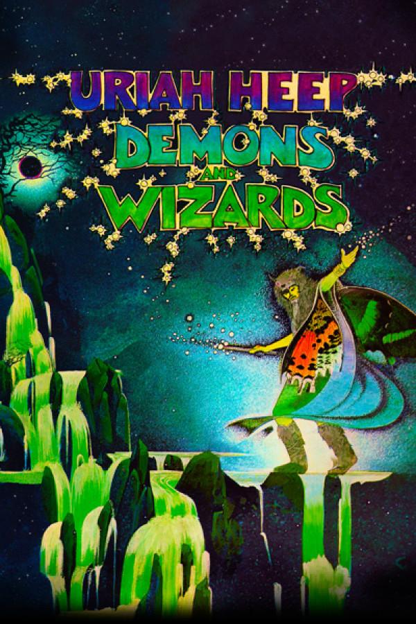 Capa Almofada Uriah Heep Demons and Wizards