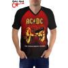 Raglan manga curta AC DC About to Rock