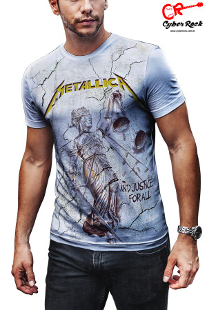 Camiseta Metallica and Justice branca