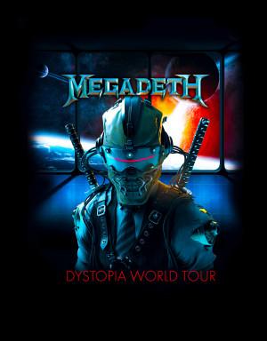 Blusinha Megadeth Dystopia World Tour