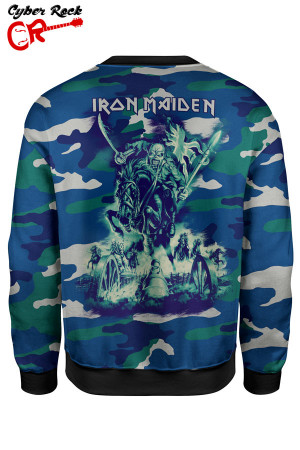 Blusa moletom Iron Maiden camo tz