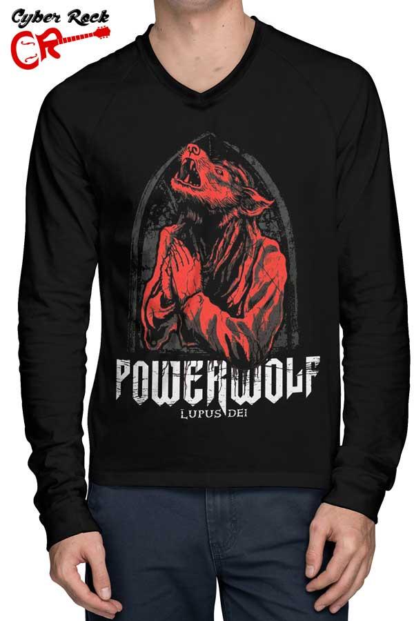 Raglan Manga Longa Powerwolf Lupus Dei fr