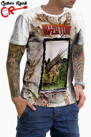 Camiseta Led Zeppelin IV branca