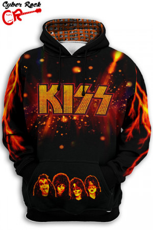 Blusa Moletom Kiss Fire