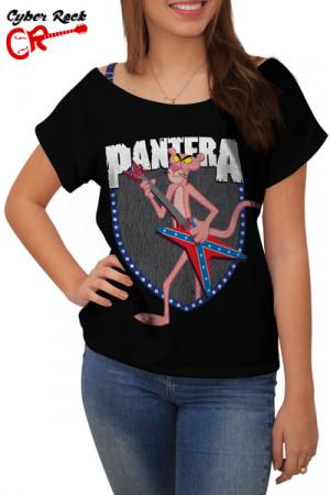 Blusinha Pantera Cor De Rosa