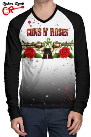 Camiseta Raglan Guns n Roses Manga Longa