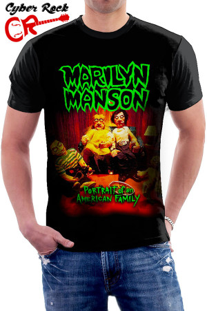 Camiseta Marilyn Manson-Portrait of an American Family